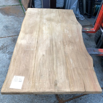 Eiken tree trunk table 2.00 m1 5 cm thick e105