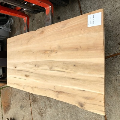 Eiken tree trunk table 2.20 m1 3 cm thick e105