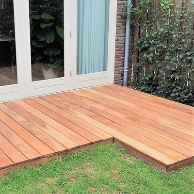 Ipe decking boards crackless montage 12 cm