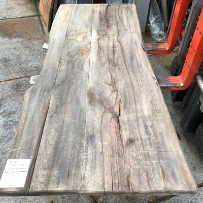 Old oak tree trunk table 2.40 m1 5 cm e98 96