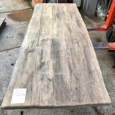 Old oak tree trunk table 2.40 m1 5 cm thick e93 102