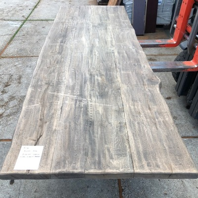 Old oak tree trunk table 3.00 m1 5 cm e100 102