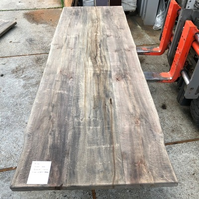 Old oak tree trunk table 3.00 m1 5 cm thick e102 95