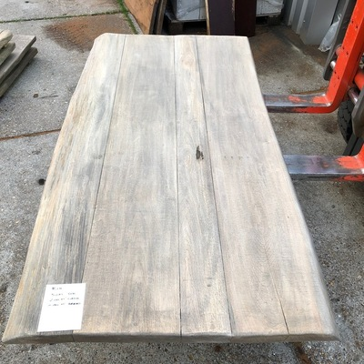 Old oak tree trunk table 5 cm 100 2 m1 long